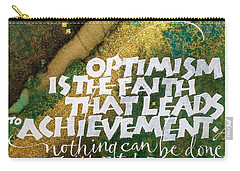Inspirational Saying Optimism Carry-all Pouch