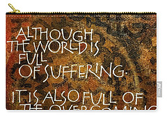 Inspirational Saying Overcome Carry-all Pouch