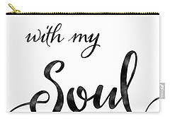 Inspirational Typography Script Calligraphy - It Is Well With My Soul Carry-all Pouch