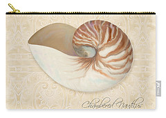 Inspired Coast Iv - Chambered Nautilus, Nautilus Pompilius Carry-all Pouch