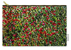 Intense Red Poppies Carry-all Pouch