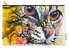 Carry-all Pouch featuring the painting Intensity by Sherry Shipley