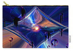 Carry-all Pouch featuring the digital art Interdimensional Portal by Linda Sannuti