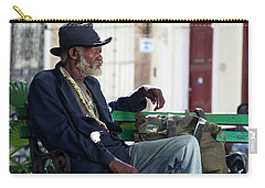Carry-all Pouch featuring the photograph Interesting Cuban Gentleman In A Park On Obrapia by Charles Harden