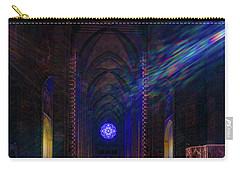Carry-all Pouch featuring the photograph Interior Looking Rearwards, Cathedral Of St. John The Divine by Chris Lord