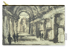 Carry-all Pouch featuring the painting Interior Of St. Peter After Giovanni Piranesi by Martin Stankewitz