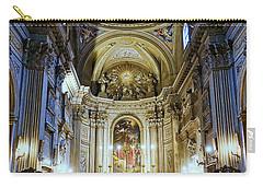 Interior View Of Santi Vincenzo E Anastasio A Fontana Di Trevi In Rome Italy Carry-all Pouch