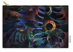 Carry-all Pouch featuring the digital art Interlude 1536 - Fractal Art by NirvanaBlues