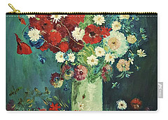 Interpretation Of Van Gogh Still Life With Meadow Flowers And Roses Carry-all Pouch