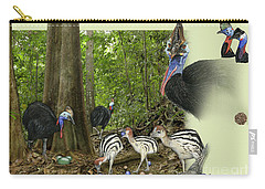 Zoo Nature Interpretation Panel Cassowaries Blue Quandong Carry-all Pouch