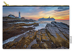 Carry-all Pouch featuring the photograph Into Portland Harbor by Rick Berk