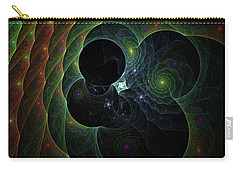 Carry-all Pouch featuring the digital art Into Space And Time by Deborah Benoit