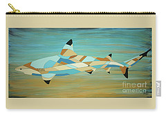 Into The Blue I Shark Painting Carry-all Pouch