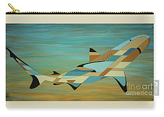 Into The Blue Shark Painting Carry-all Pouch