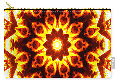 Carry-all Pouch featuring the digital art Into The Fire by Shawna Rowe