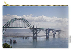 Carry-all Pouch featuring the photograph Into The Fog At Newport by Mick Anderson