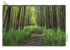 Carry-all Pouch featuring the photograph Into The Forest by DJ Florek