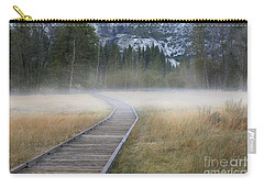 Carry-all Pouch featuring the photograph Into The Mist by Sandra Bronstein