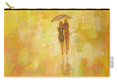 Carry-all Pouch featuring the painting Into The Sunset by Raymond Doward