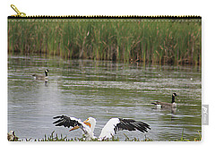 Carry-all Pouch featuring the photograph Into The Water by Alyce Taylor
