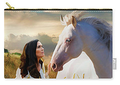 Carry-all Pouch featuring the digital art Into The Wind by Melinda Hughes-Berland