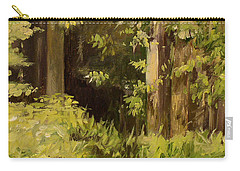 Carry-all Pouch featuring the painting Into The Woods by Laurie Rohner