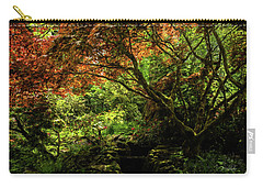 Carry-all Pouch featuring the painting Into The Woods - Spring Art by Jordan Blackstone