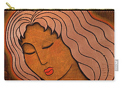 Carry-all Pouch featuring the mixed media Intuitive Listening by Gloria Rothrock