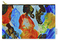 Carry-all Pouch featuring the painting Intuitive Painting  215 by Joan Reese