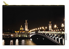 Carry-all Pouch featuring the photograph Invalides At Night 1 by Andrew Fare
