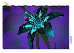 Inverse Lily Carry-all Pouch by Judy Johnson