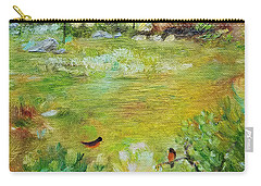 Carry-all Pouch featuring the painting Invincible Spring by Judith Rhue