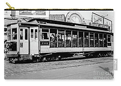 Carry-all Pouch featuring the photograph Inwood Crosstown Trolley  by Cole Thompson