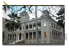 Carry-all Pouch featuring the photograph Iolani Palace, Honolulu, Hawaii by Mark Czerniec