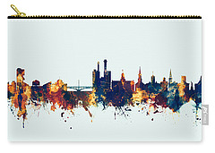 Carry-all Pouch featuring the digital art Iowa City Iowa Skyline by Michael Tompsett