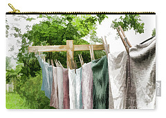 Carry-all Pouch featuring the photograph Iowa Farm Laundry Day  by Wilma Birdwell