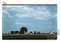 Carry-all Pouch featuring the photograph Iowa Farm  by Yumi Johnson