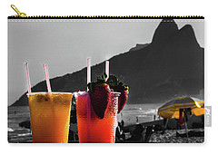 Ipanema With Cocktails Carry-all Pouch by Cesar Vieira