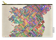 Ireland Eire City Text Map Derry Version Carry-all Pouch