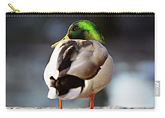 Carry-all Pouch featuring the photograph Iridescense by Sue Collura