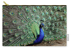 Iridescent Blue-green Peacock Carry-all Pouch