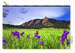 Iris And Flatirons Carry-all Pouch by Scott Mahon