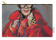 Iris Apfel Style Icon Carry-all Pouch by Nop Briex