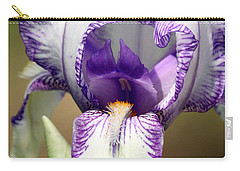 Carry-all Pouch featuring the photograph Iris Close-up by Sheila Brown
