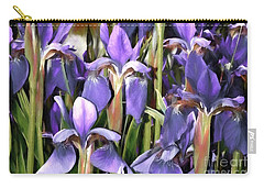 Carry-all Pouch featuring the photograph Iris Fantasy by Benanne Stiens