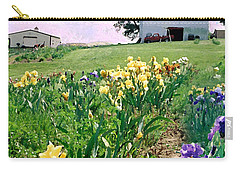 Carry-all Pouch featuring the photograph Iris Farm by Steve Karol