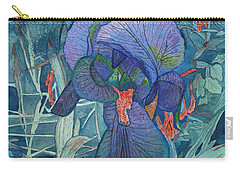 Iris Lace With Wild Columbine Carry-all Pouch