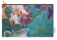 Iris Medley - Original Impressionist Painting Carry-all Pouch by Quin Sweetman