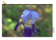 Iris Purple And Blue Carry-all Pouch