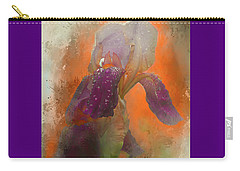 Carry-all Pouch featuring the digital art Iris Resubmit by Jeff Burgess